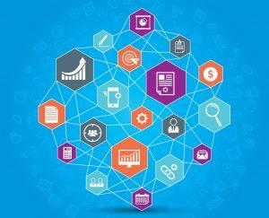 Kundenservice B2B: Grafik, die ein CRM-System symbolisiert