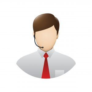 Kundenservice B2B: Icon eines Kundenservice-Mitarbeiters mit Telefon-Headset